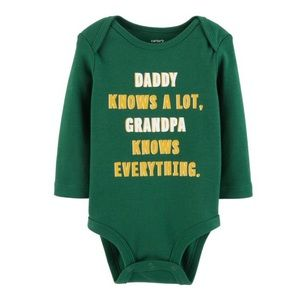 5/$25 Carter's 'Grandpa Knows Everything' Bodysuit